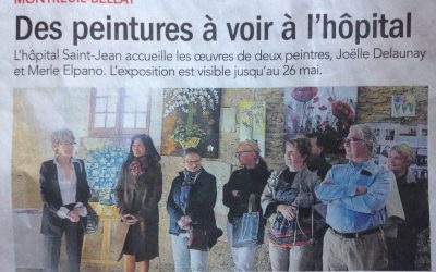 Vernissage le 14 Mai 2019, Hopital Saint Jean